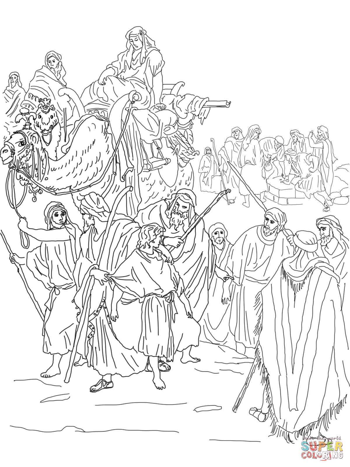Joseph is Sold into Slavery by His Brothers coloring page