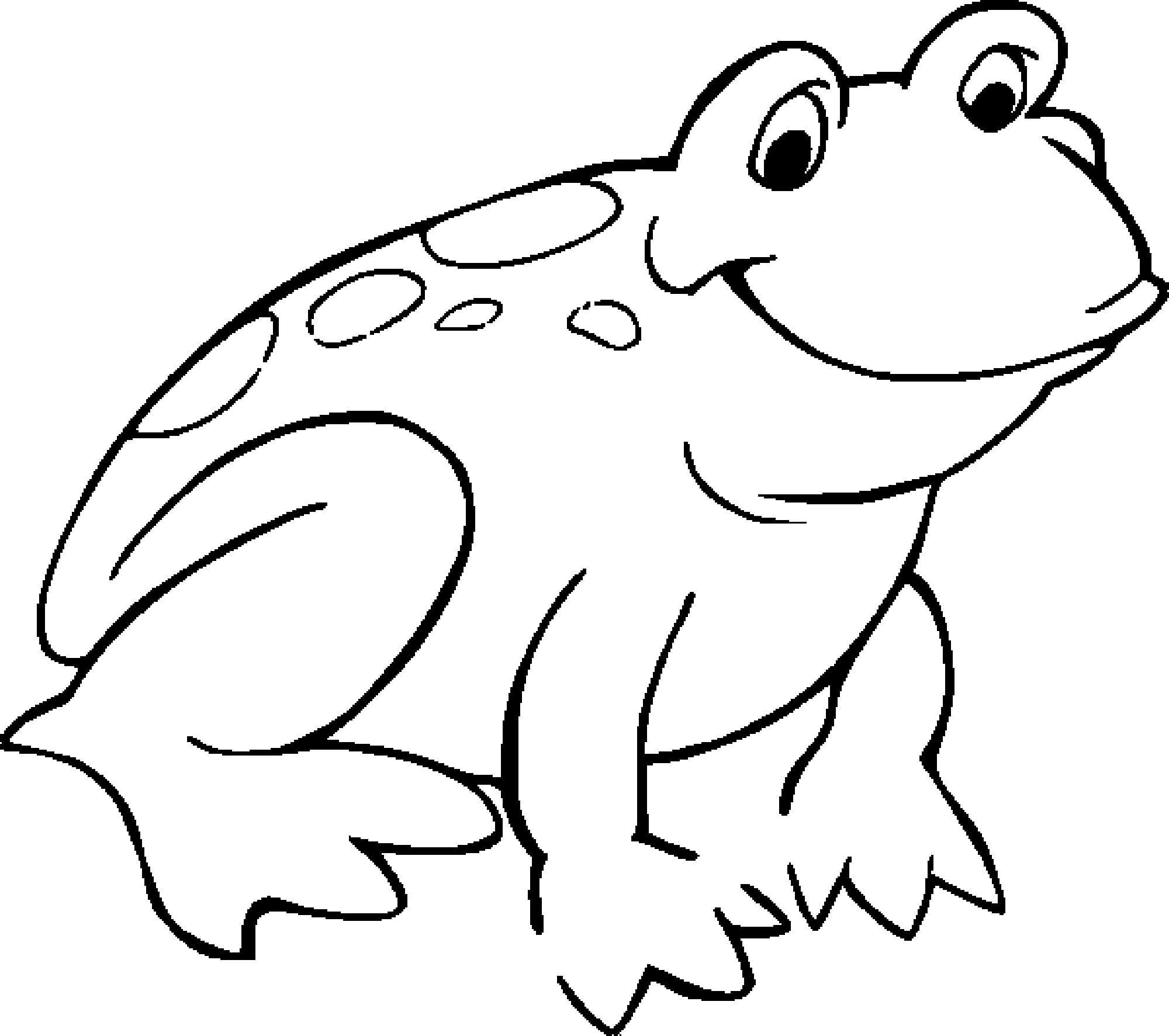 Free Frog Coloring Page Coloring Home