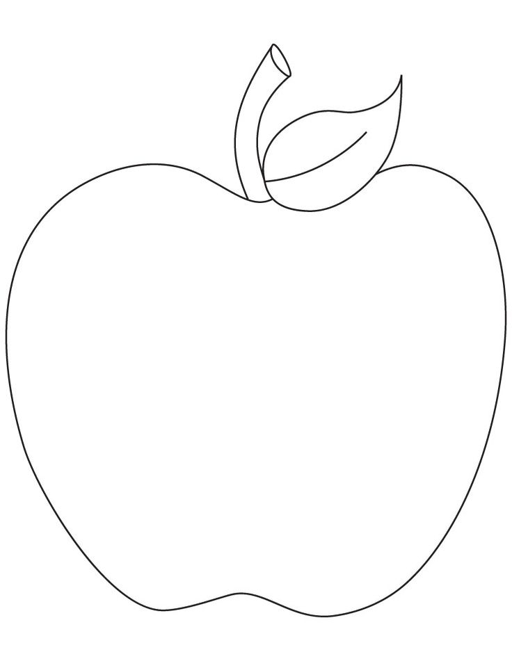 Apple Stencil Printable Coloring Home
