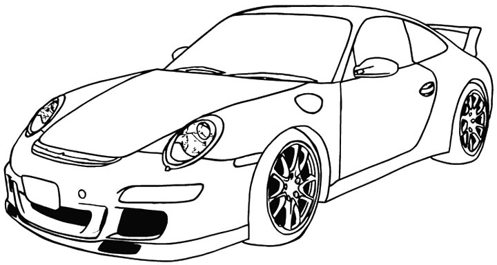 Porsche Coloring Pages Coloring Home Porsche Coloring Pages