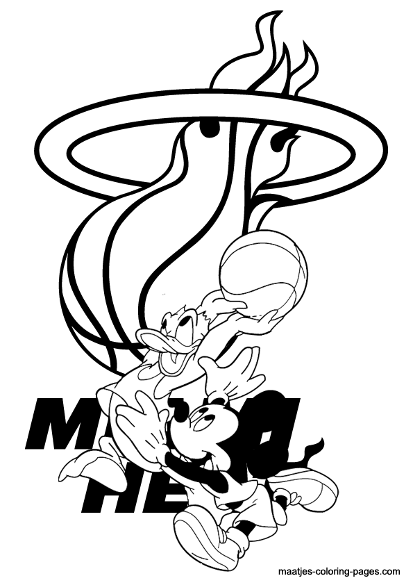 Miami Heat Coloring Page Coloring Home