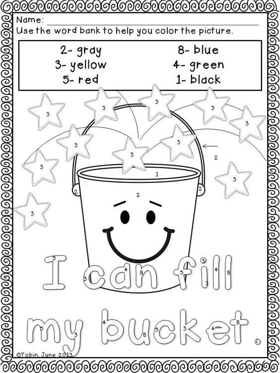 Bucket Filler Coloring Page Coloring