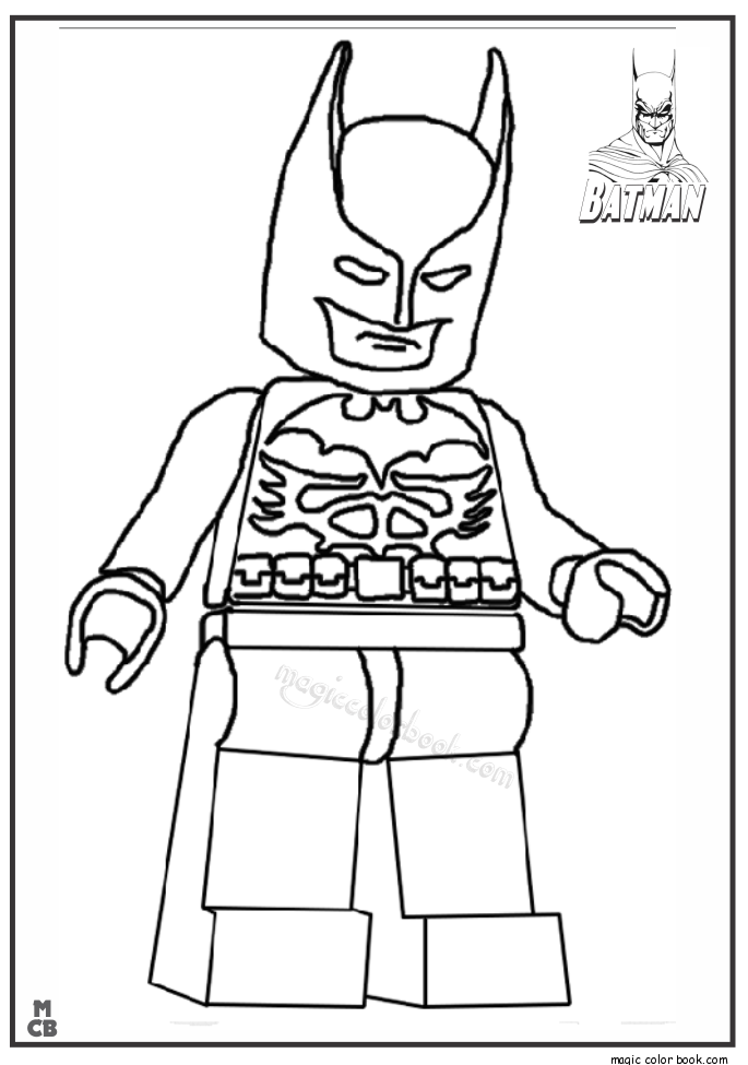 batman lego free printable coloring pages