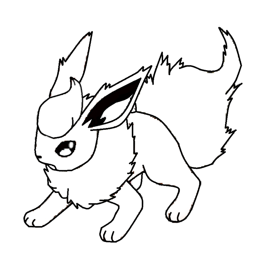 Pokemon Flareon Coloring Pages - Coloring Home