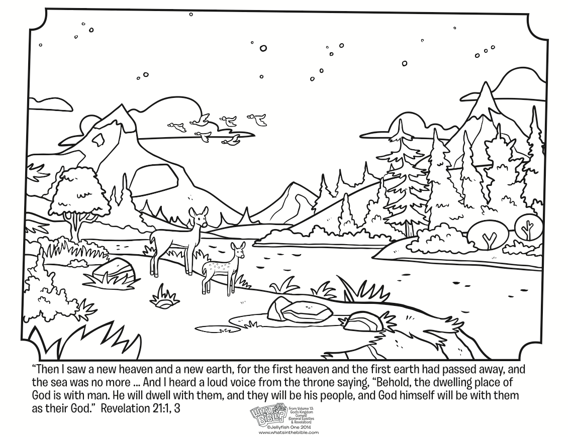 Coloring Page Of Heaven - Coloring Home