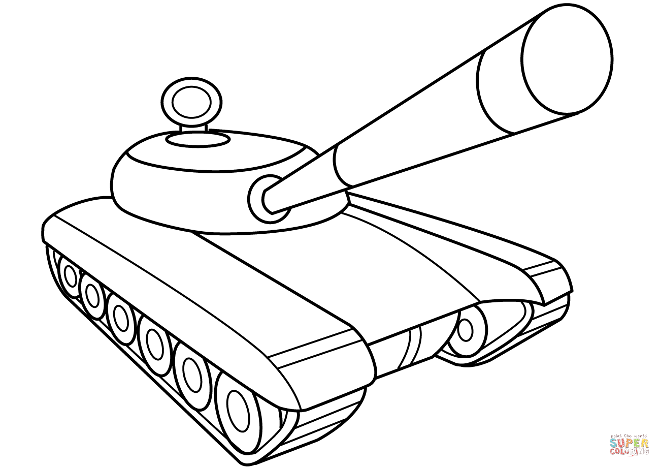 tank coloring page coloring home WW2 Tank Coloring Pages  Tank Coloring Pages Free