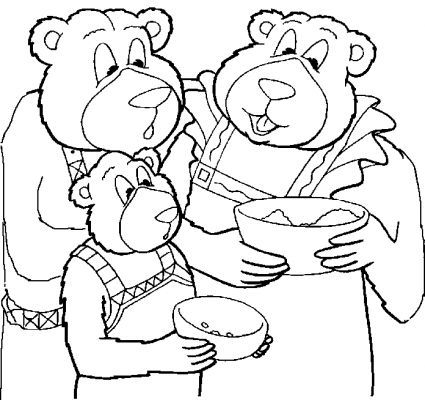 the three bears coloring pages - photo#9