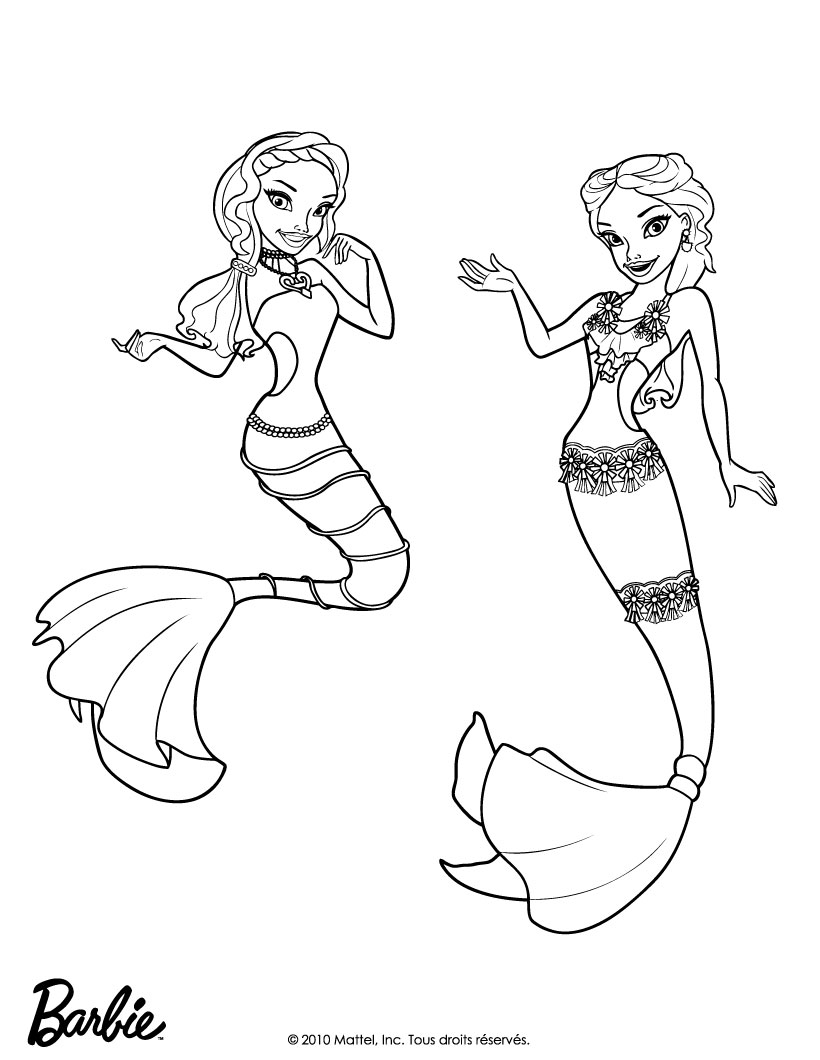 mermaid kids coloring pages - photo#17