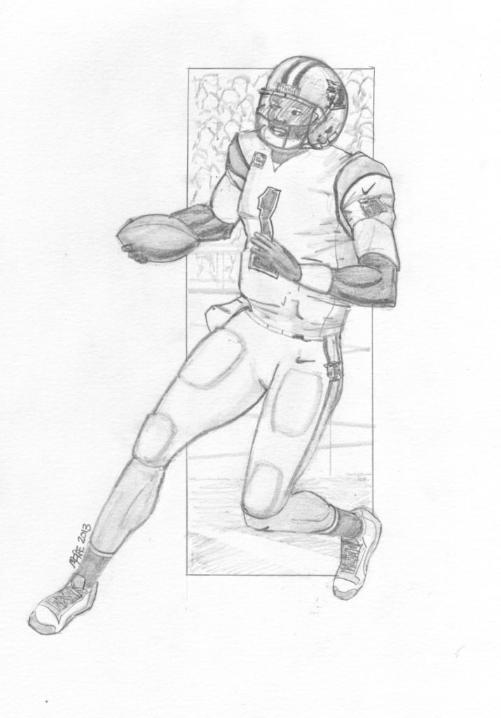 Cam Newton - Coloring Pages for Kids and for Adults