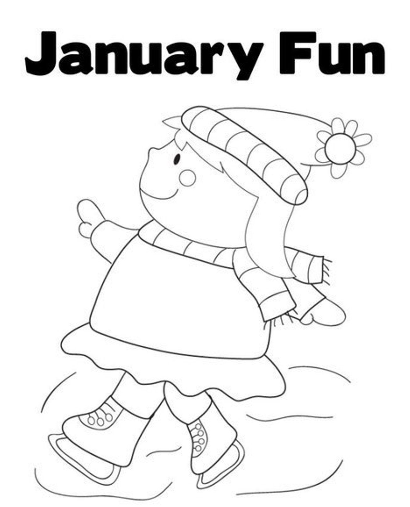 Coloring Pages January Color Pages winterjanuary coloring pages az january winter of