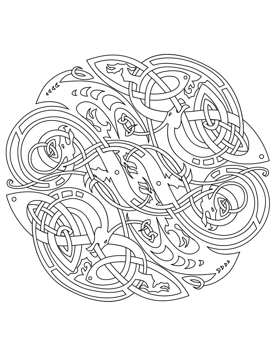 Celtic Mandalas To Color