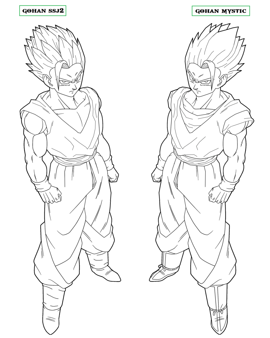 Goku Ssj2 Coloring Pages