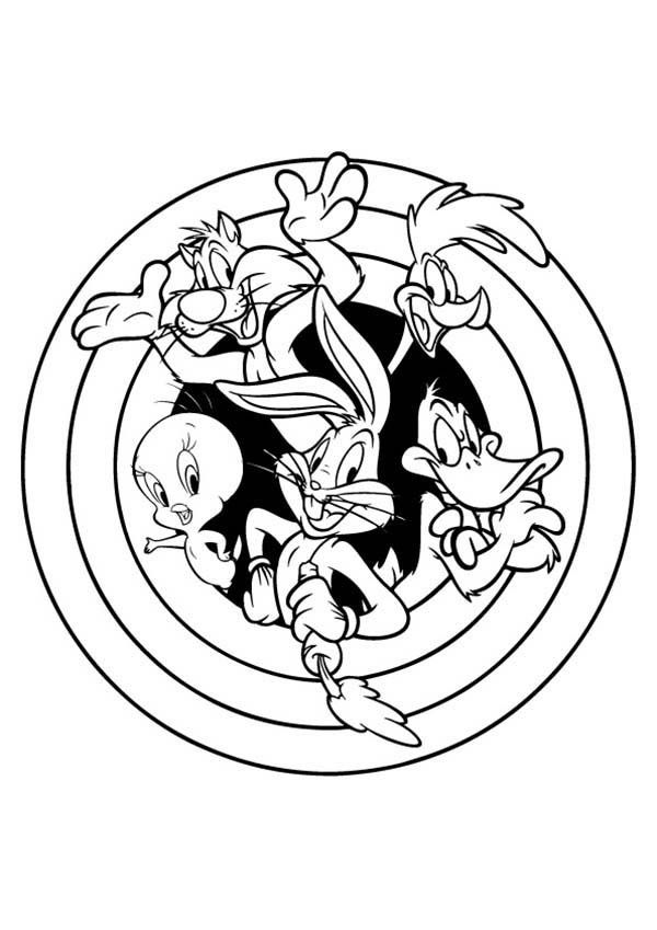 free looney tunes themed coloring pages | Free Space Jam Coloring Pages - Coloring Home