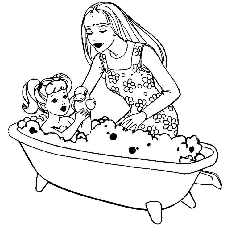 Barbie And Kelly Coloring Page Gif 1016a 1016 Coloriage Barbie Coloring Home