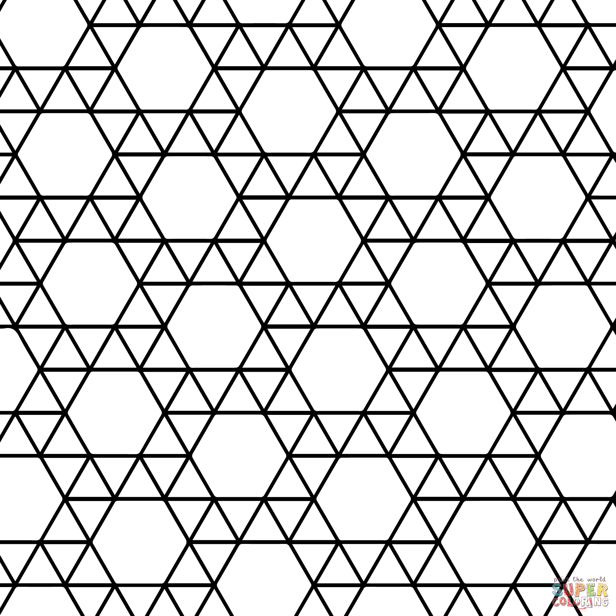Tessellation patterns coloring pages az coloring pages for Tessellating shapes templates