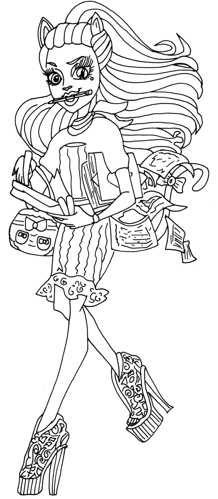 catty noir coloring pages - photo#17