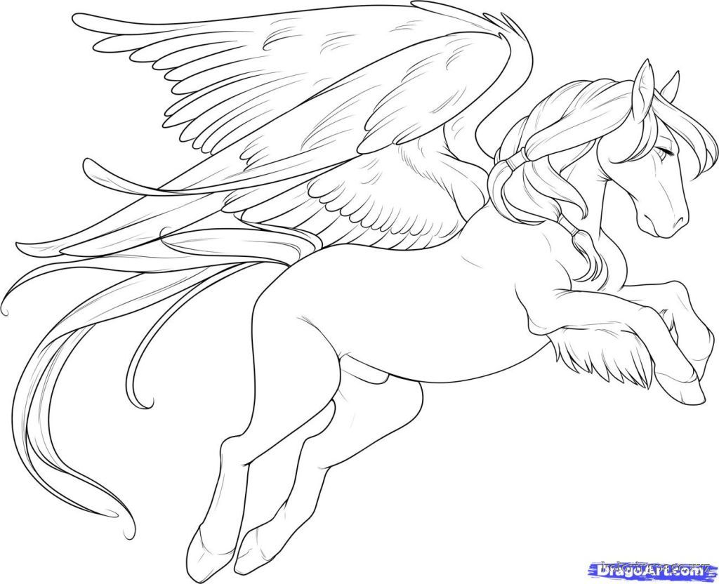 Flying Horse Coloring Pages | Coloring Pages - Coloring Home