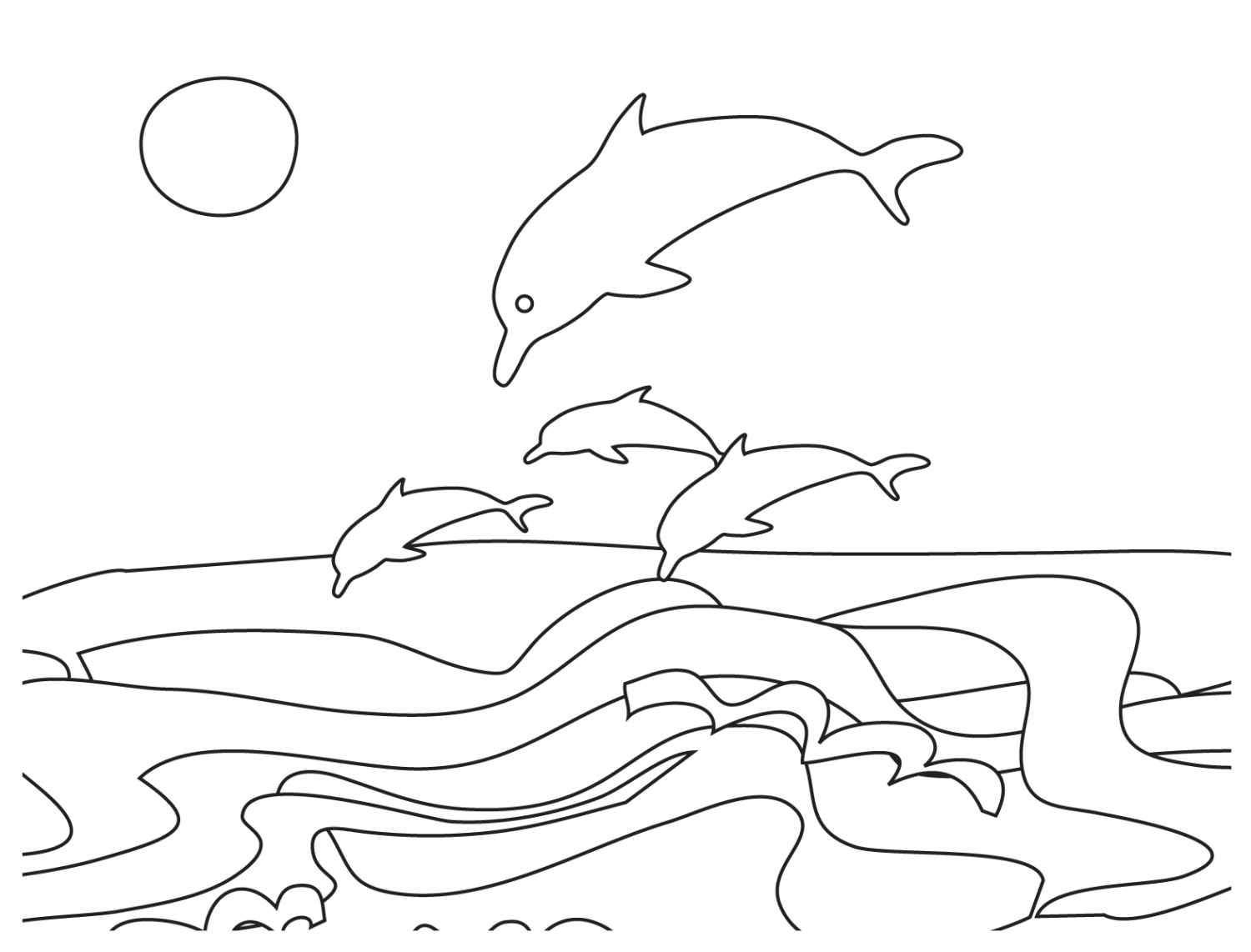 beach scene coloring page - coloring pages of ocean scenes coloring home