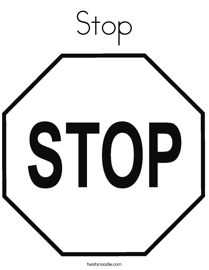 Stop Sign Template Printable - Coloring Home