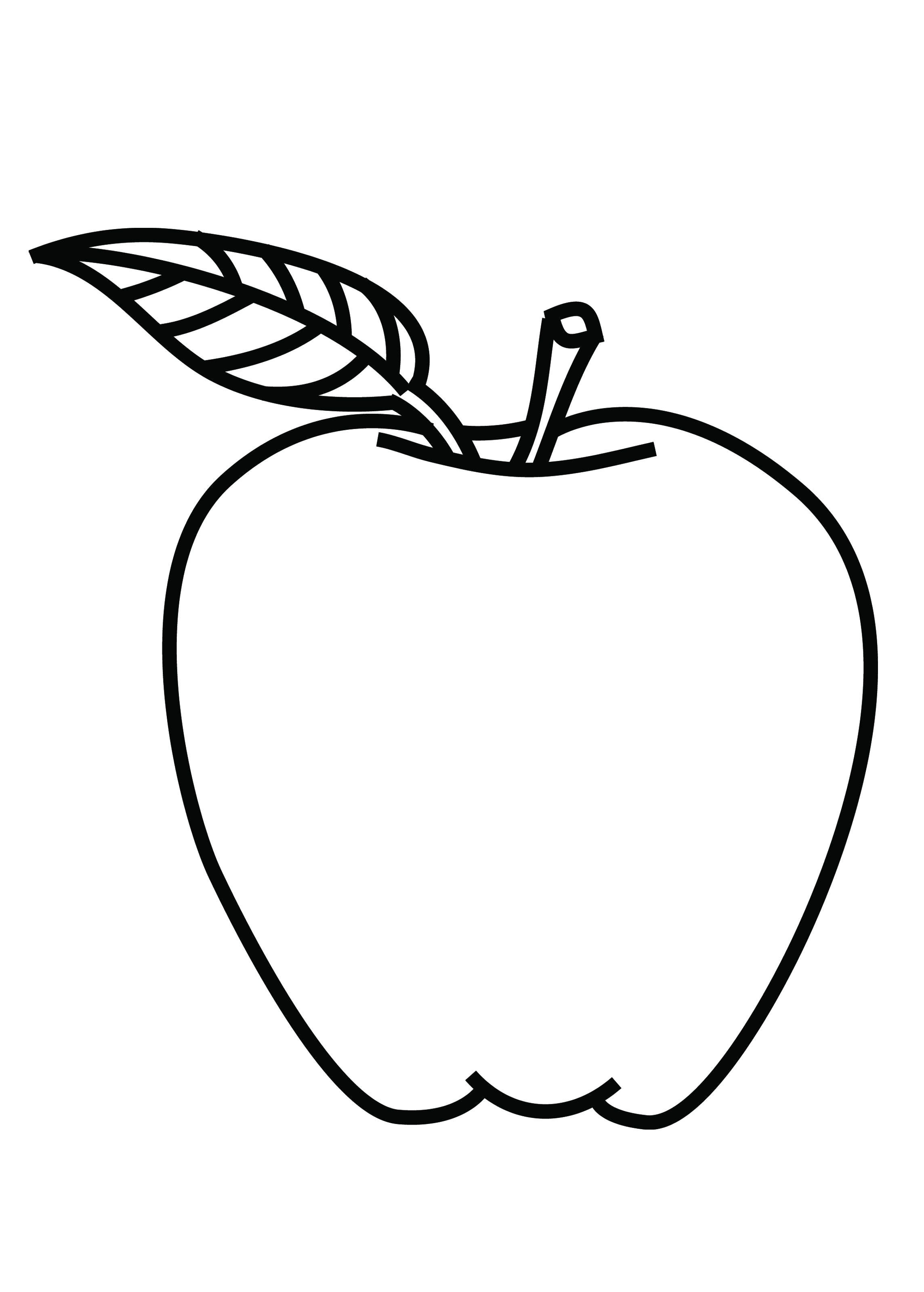 Coloring Page For Kids Apple Tree Coloring Home