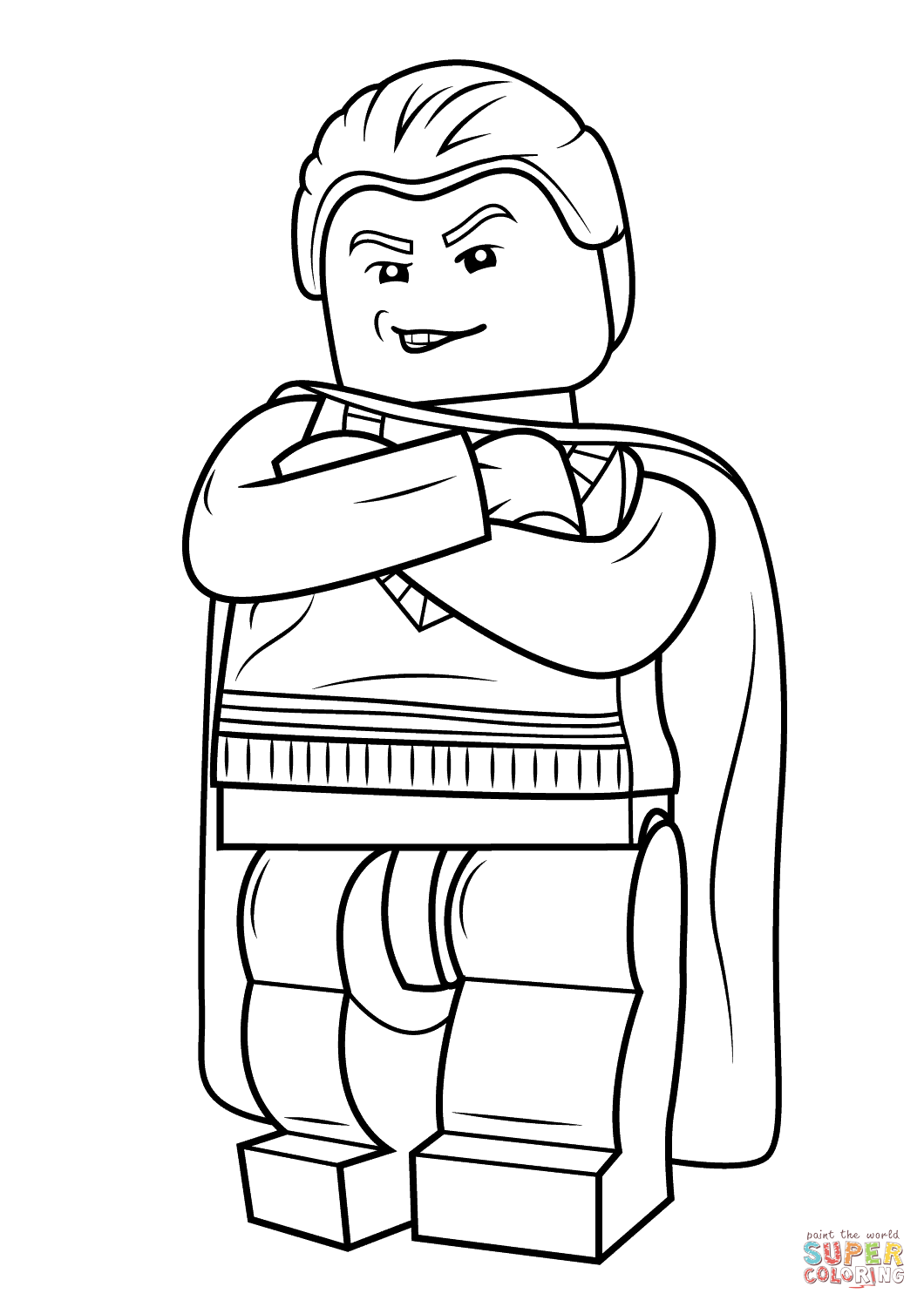 Lego Draco Malfoy Coloring Page Free Printable Coloring Pages