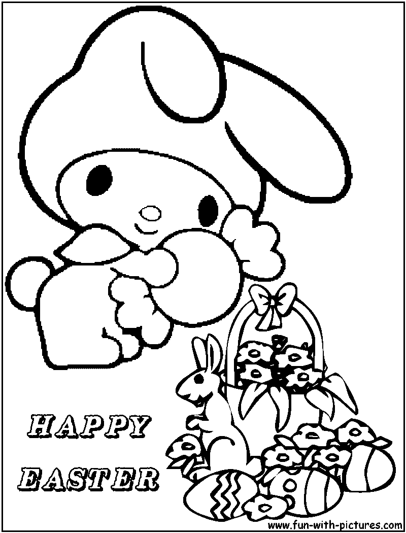 Hello Kitty Coloring Pages Roll : Hello kitty coloring pages easter home