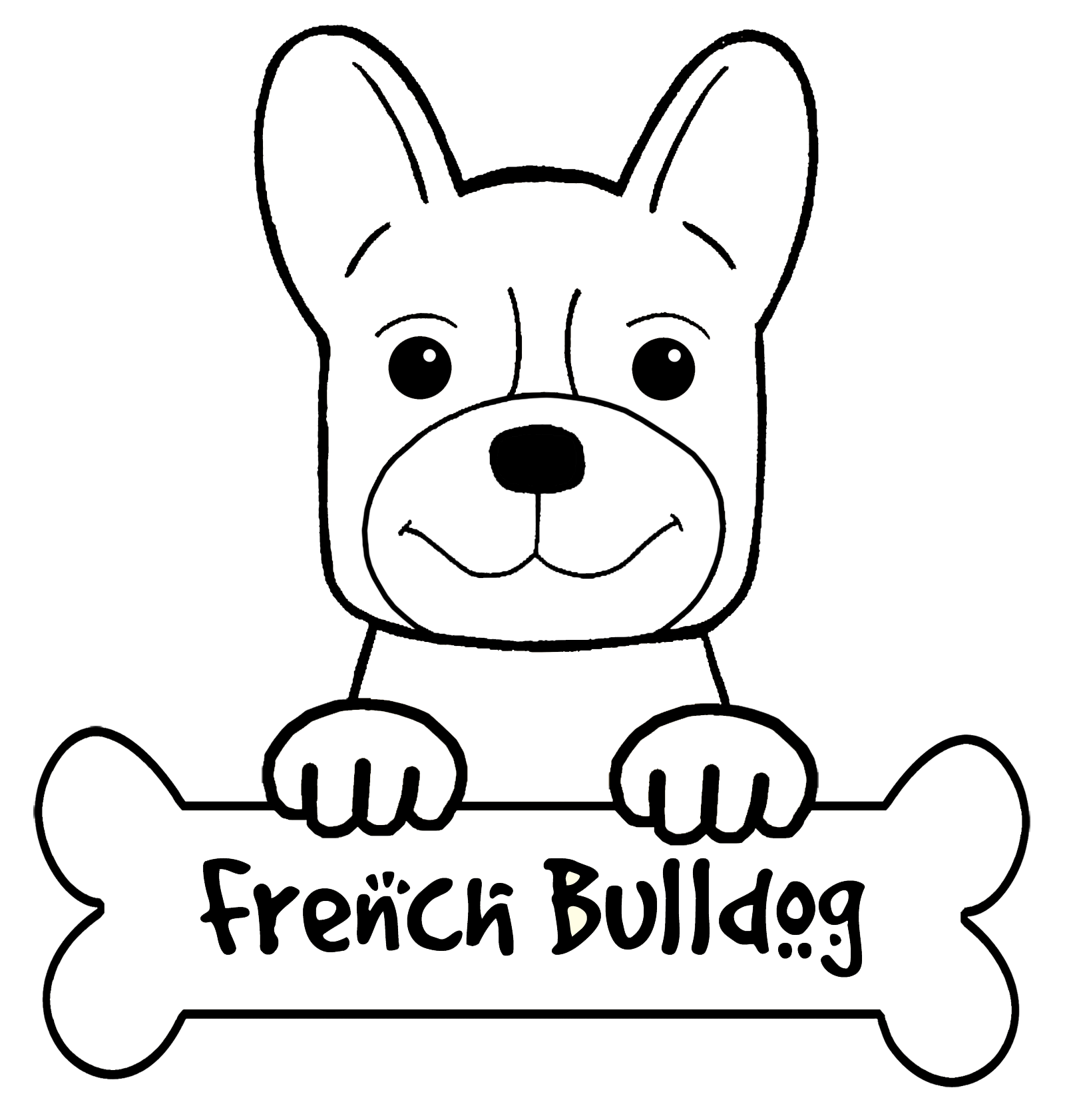 bulldog coloring book pages - photo#35