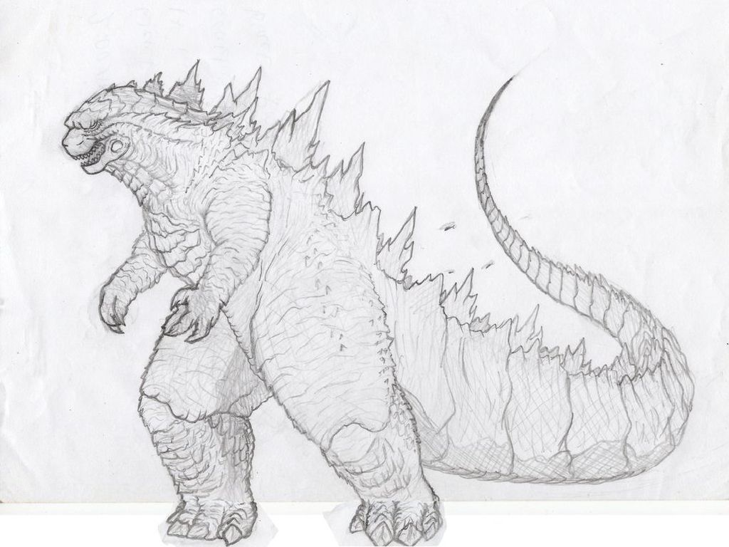 Coloring Pages Of Godzilla Coloring