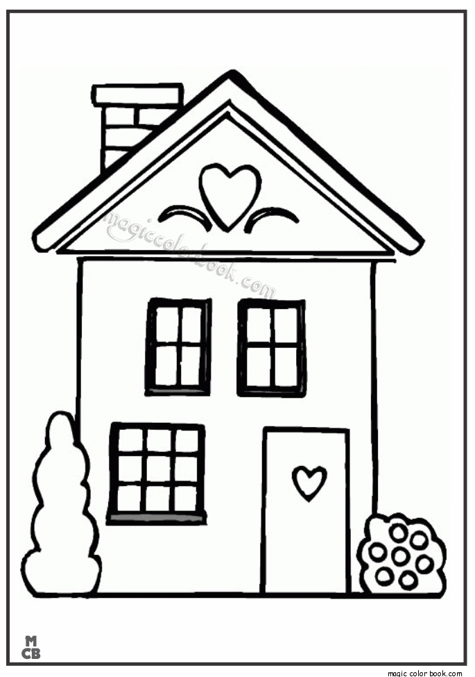Big House Cartoon Printable Coloring Pages Coloring Home