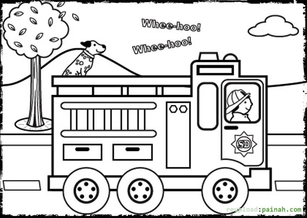 kids fire prevention coloring pages - photo#2