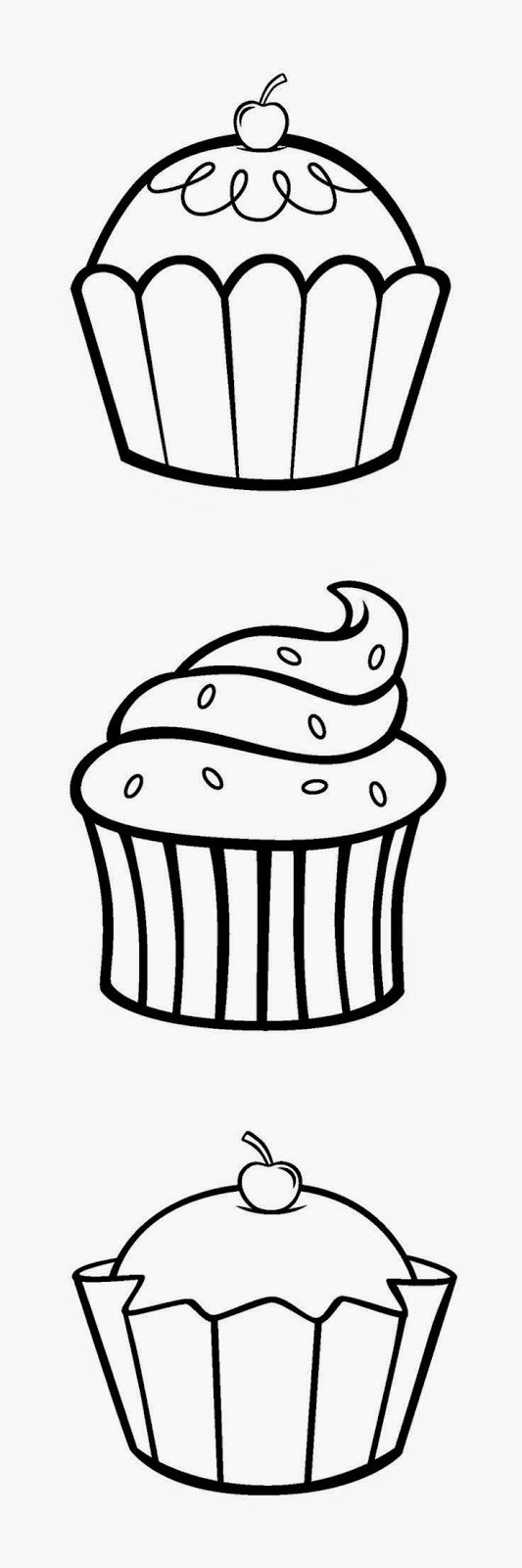 Hello Kitty Cupcake Coloring Pages - Coloring Home