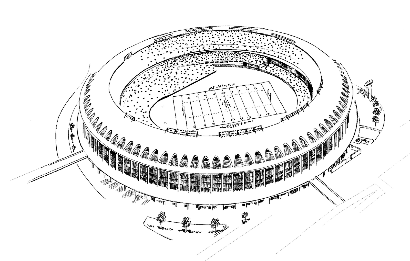 Coloring pages football stadium coloring page