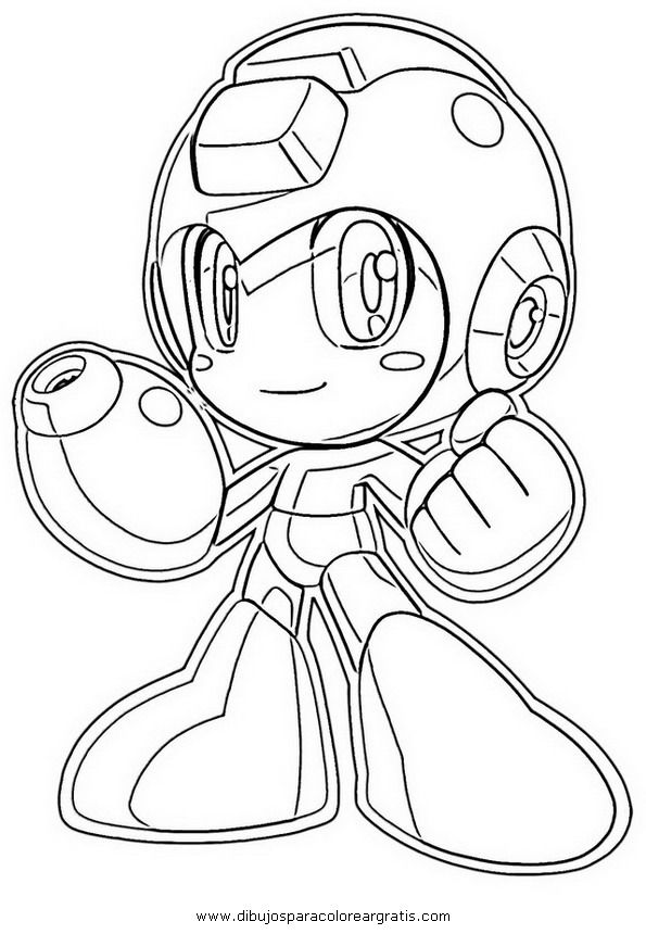 mega man coloring pages free - photo#1