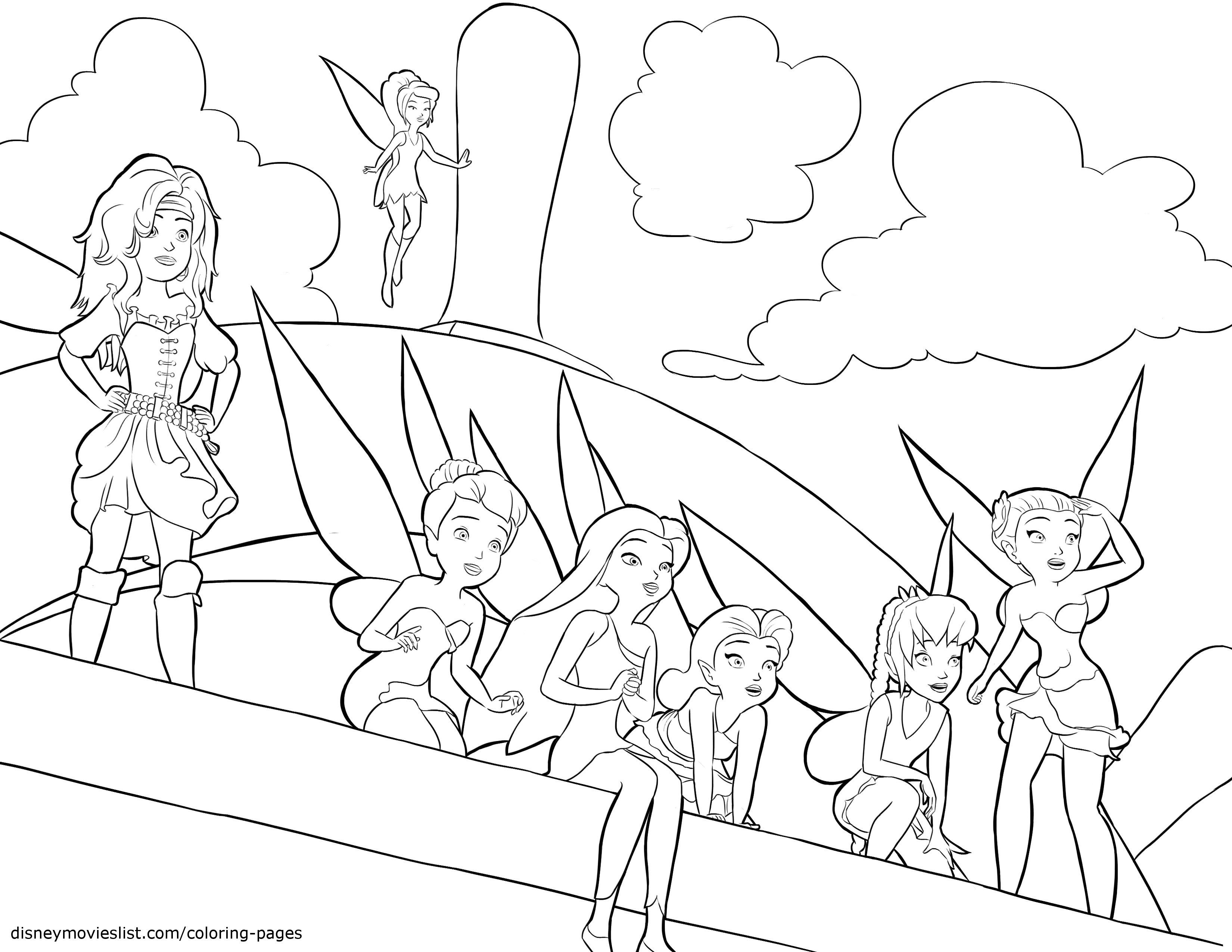 The Fairies Coloring Pages - Coloring Home