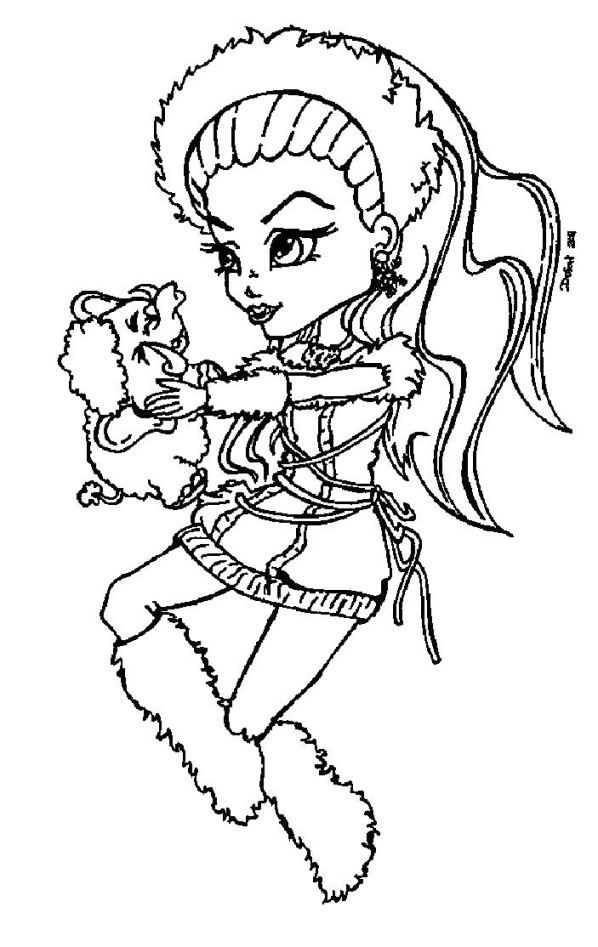 Monster High Christmas Coloring Pages Coloring Home