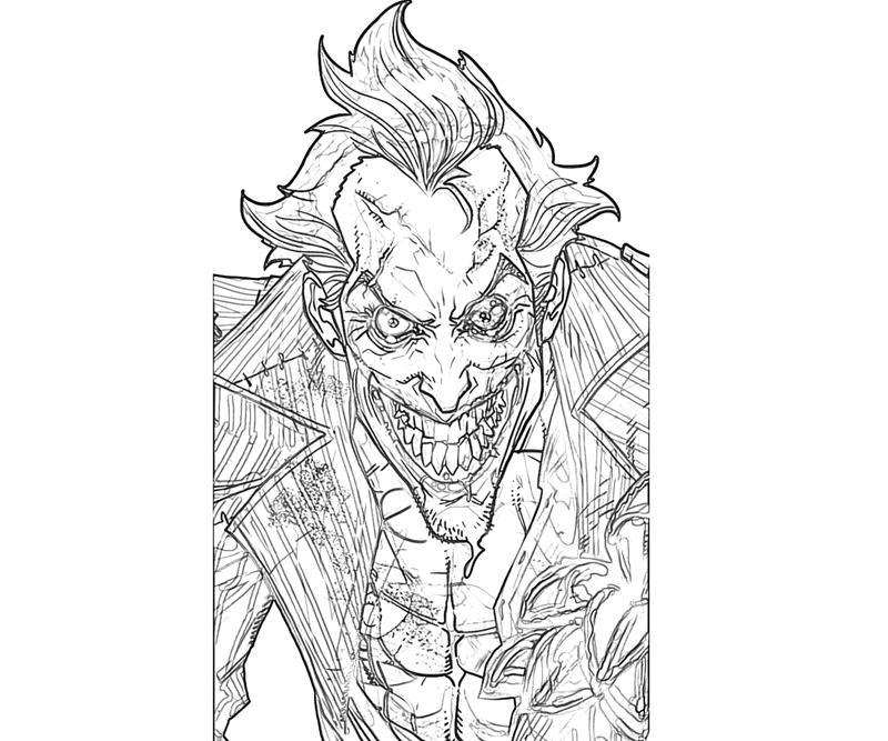 17 Pics Of Joker Arkham Asylum Coloring Pages