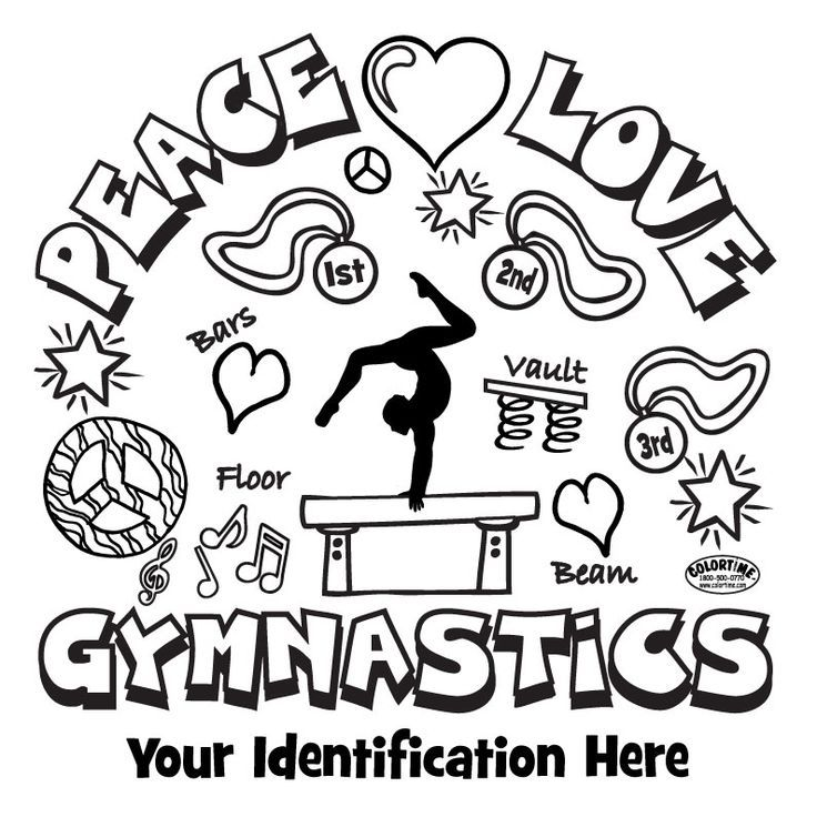 Printable Gymnastics Coloring Pages - Coloring Home