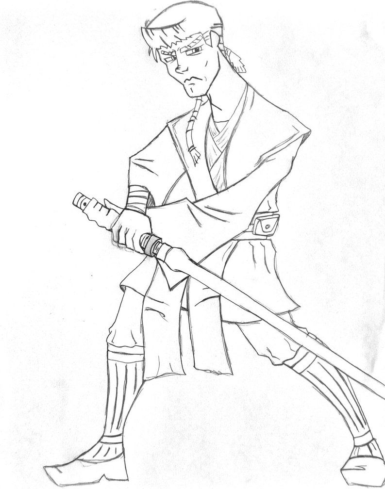Anakin Skywalker Coloring Page - Coloring Home
