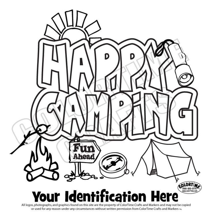 camping colouring pages coloring pages for kids and for adults