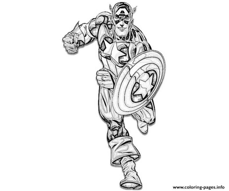 Captain America Fighting Bad Guy Coloring Pages  Coloring Home