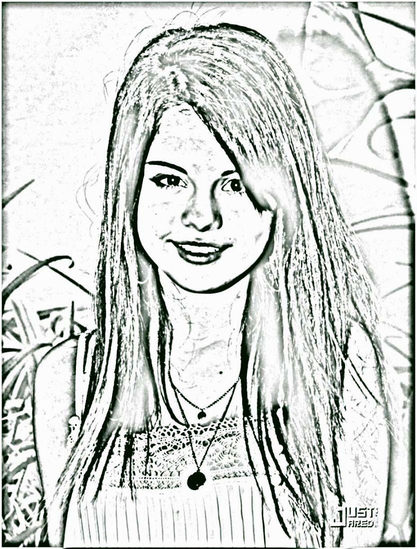Selena Gomez Printable Coloring