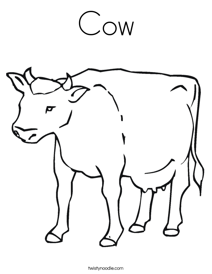 c is for cow coloring pages - photo #13