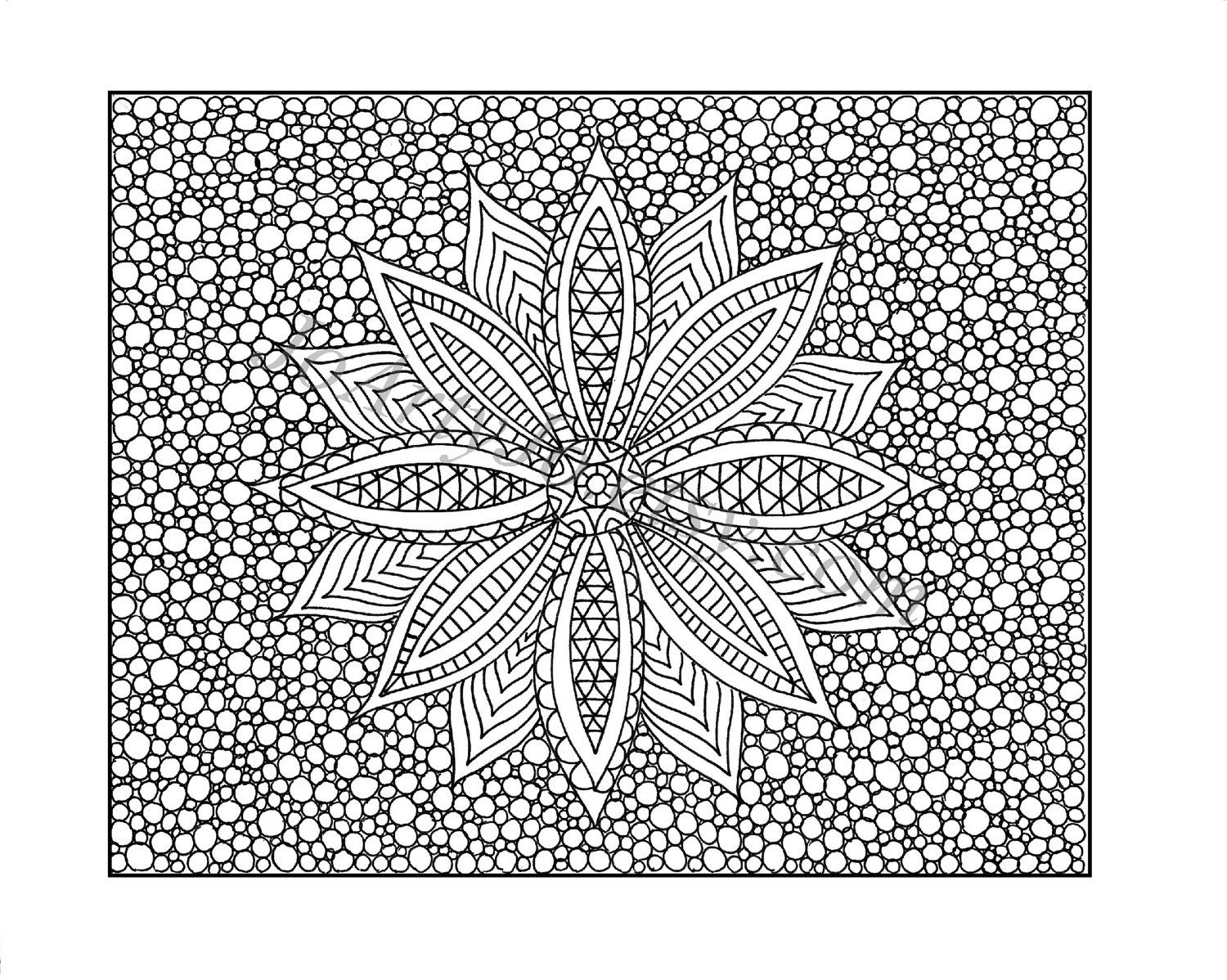 printable hard pattern coloring pages coloring home