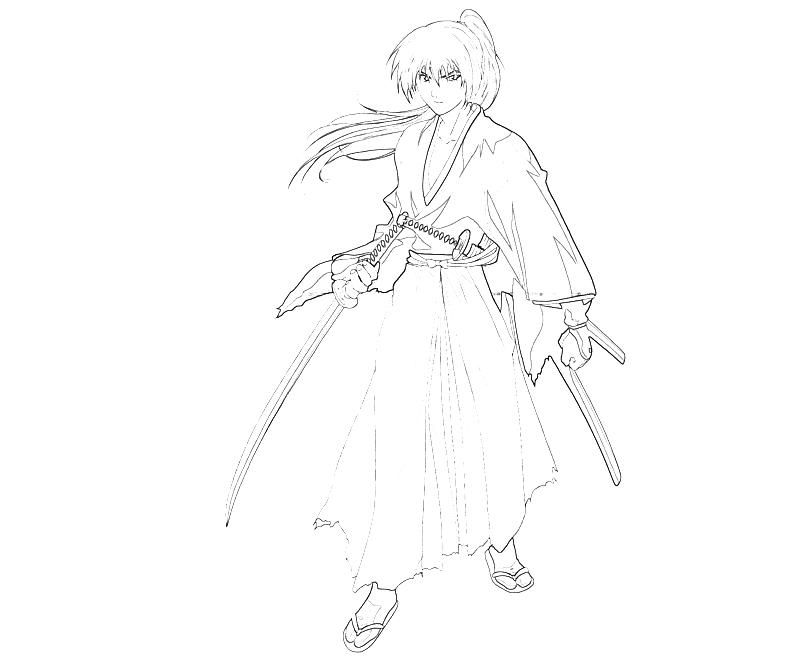 coloring pages for rurouni kenshin - photo#5