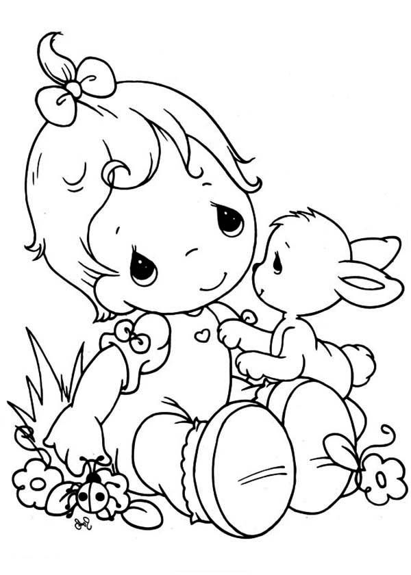 Precious moments animal coloring pages coloring home for Precious moments coloring page