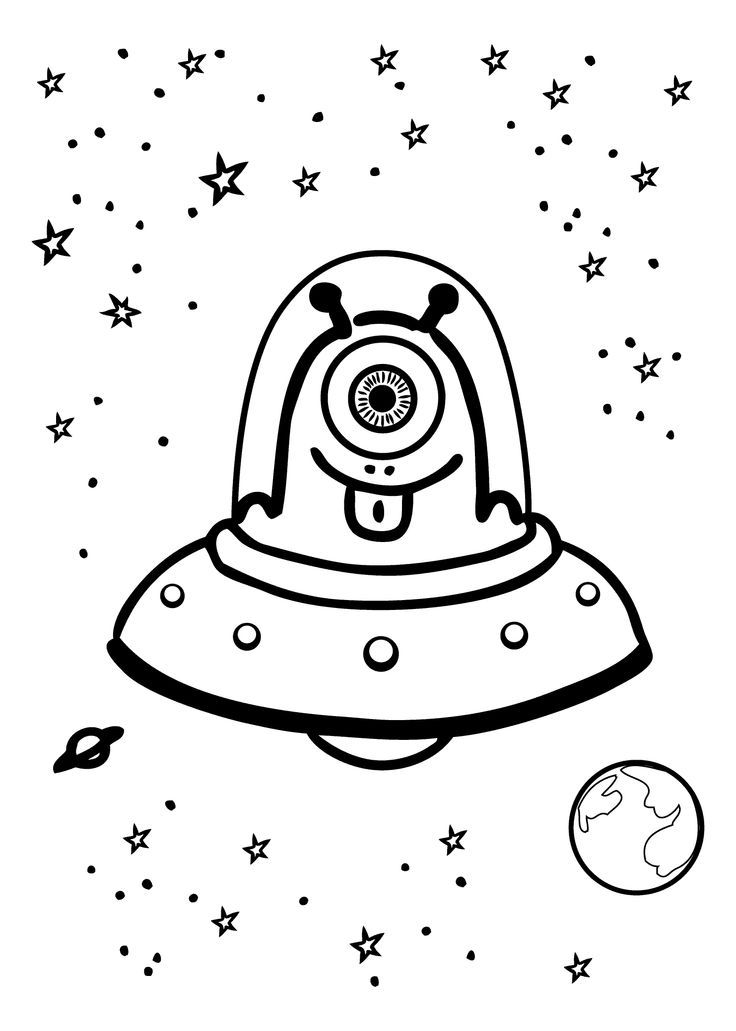 outer space kids coloring pages - photo#32