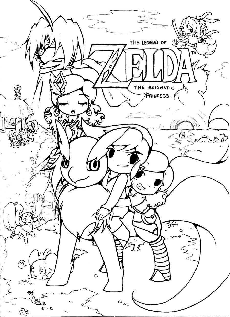 The Legend Of Zelda Coloring Pages - Coloring Home