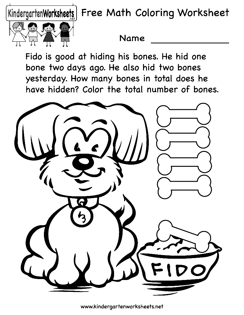 Free coloring pages for kindergarten printable - Printable Math Coloring Worksheets Free Printable Worksheets