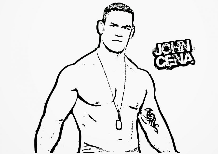 Wwe John Cena Printable Coloring Pages