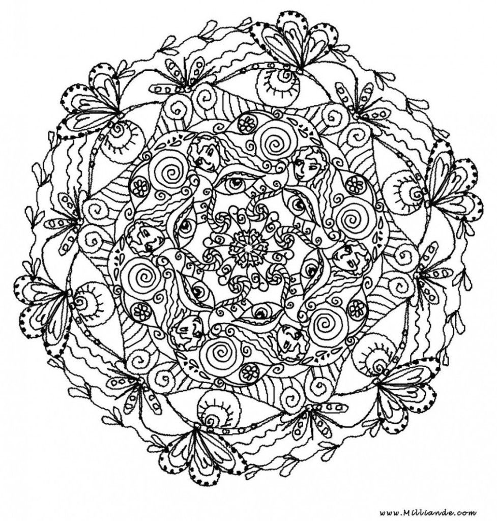 difficult mandala coloring pages - photo#15
